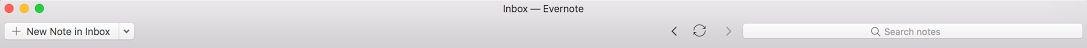 Evernote toolbar customized